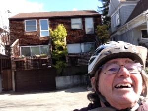 Selfie, wearing my Brain Bucket in Berkeley, CA